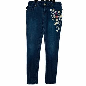 Enyce hearts and stars embellished skinny …